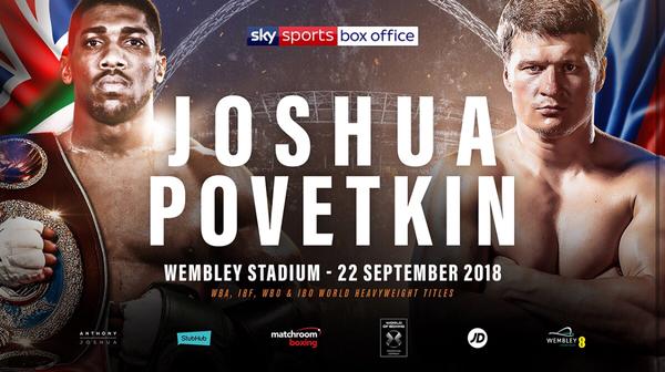 JOSHUA VS. POVETKIN TICKET SALES ANNOUNCEMENT