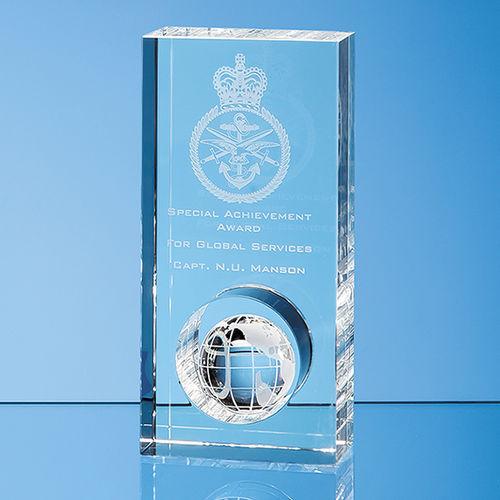 Optical Crystal Globe in the Hole Award 17cm