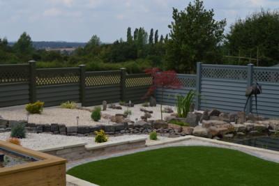 Green Metal Garden Fence
