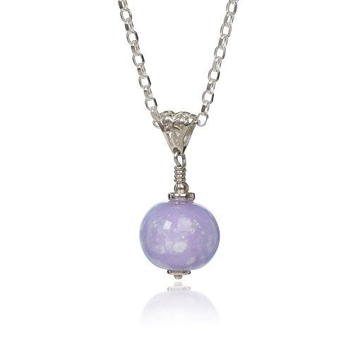 Lilac cremation Glass Pendant