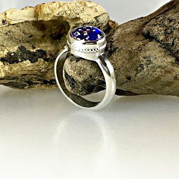 Cremation Glass Ring
