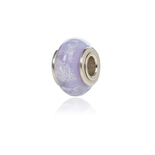 Lilac cremation Glass Charm Bead