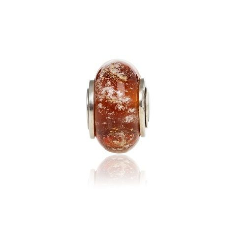 Amber Cremation Glass Charm