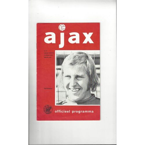 Ajax v Stoke City UEFA Cup Football Programme 1974/75