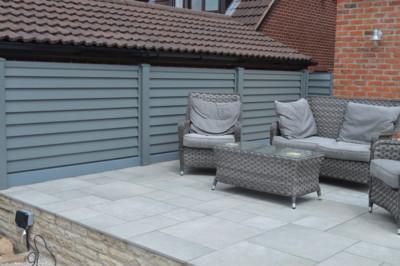 Simple 1.2m High Option - Garden Patio