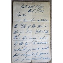 Sims Reeves Tenor 1853 Signed Letter