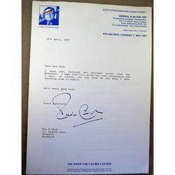 Patrick Thomas Cormack, Baron Cormack, DL, FSA, Signed 1997 Letter