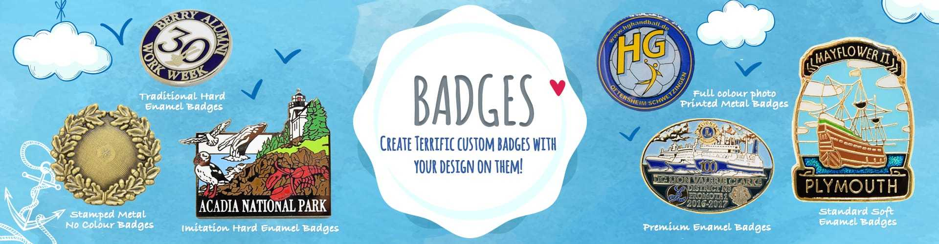 Create Terrific Badges with Your Design on them!