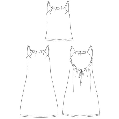Katia Spaghetti Strap Dress and Top Pattern