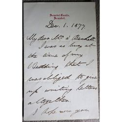 Henry Fitzalan-Howard, 15th Duke of Norfolk Signed letter