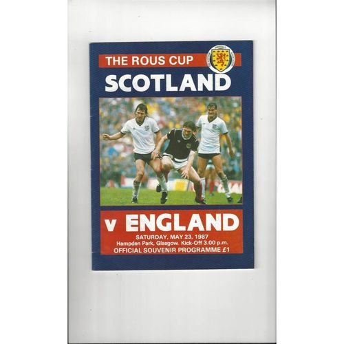 1987 Scotland v England Football Programme