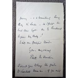 Edith Davidson (wife Randall Davidson Archbishop of Canterbury) signed 1907 Letter