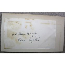 Ada Ellen Bayly (Edna Lyall) Author, Feminist Signature clip