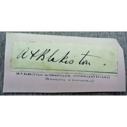 Sir Arthur Frederick Blakiston Signature Clip