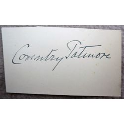 Coventry Patmore, Poet & Critic, Autograph