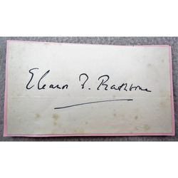 Eleanor Florence Rathbone MP, Women's Suffrage Autograph Clip