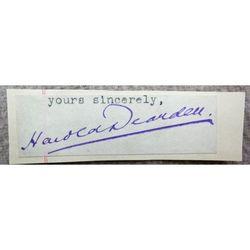 Harold Dearden Psychiatrist Screenwriter Interrogator Camp 020 Signature Clip