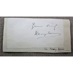 Sir Henry Norman 1st Baronet Signature Clip