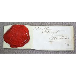 Grimston (2nd?) Earl of Verulam Signature Clip and Govt Seal