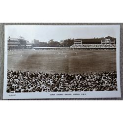 Lords Cricket Ground Real Photo Postcard