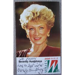 Beverley Humphreys BBC Radio Wales Autographed Photoprint