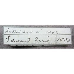 Edward Rice, Dean Of Gloucester Signature clip