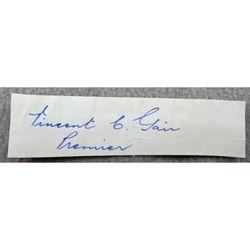Vincent Clair Gair Premier Queensland Autograph clip