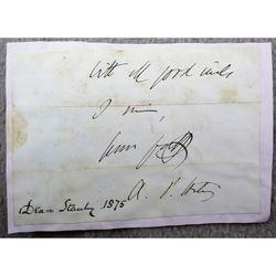 Arthur Penrhyn Stanley Dean of Westminster Letter Clip