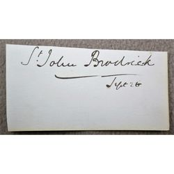 William St John Fremantle Brodrick, 1st Earl of Midleton Signature Clip