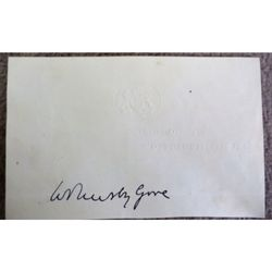 William Ormsby-Gore, Secretary of State for the Colonies, Autograph