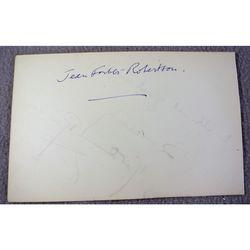 Jean Forbes-Robertson, 1905-62, Actress (Peter Pan) Autograph