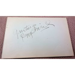 Peggy O'Neil 1898-1960 Actress Autograph