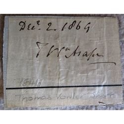 Thomas Vowler Short Bishop of St Asaph (1846-70) Signed 1869 Letter clip