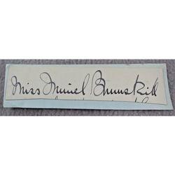 Muriel Brunskill Opera Contralto Autograph