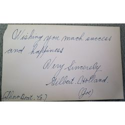 "Gilbert Holland ""Joe"" Showboat 1928 Autograph"