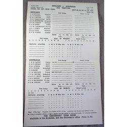 England V Australia 1964 Old Trafford Cricket Scorecard