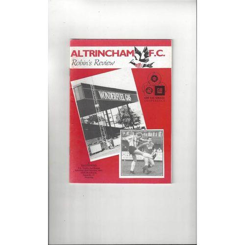 1990/91 Altrincham v Gateshead FA Trophy Football Programme