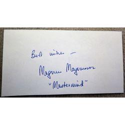 """Magnus Magnusson """" Mastermind"""" Autograph Clip"""
