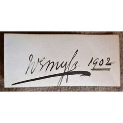 Francis Richard Charteris, 10th Earl of Wemyss 1902 Autograph