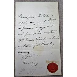 Monsignor Gilbert Chetwynd Talbot Handwritten 1867 Vatican Letter with seal