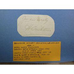 Brigadier Henry C. Maitland-Makgill-Crichton, CB, CMG, DSO Signed letter Clip