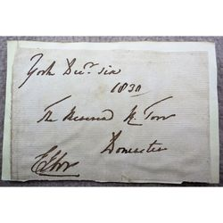 Edward Venables Vernon Harcourt Archbishop of York Signed Envelope 1830