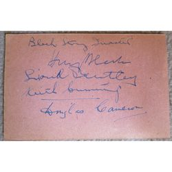 Harry Blech String Quartet Autographs