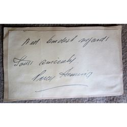 Percy Heming Opera Singer Signed Letter Clip