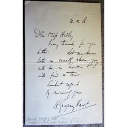 Harry Gregory Hast, Tenor, Professor of Singing, signed 1906 Letter