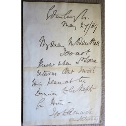 George John Douglas Campbell, 8th Duke of Argyll Signed 1869 Letter