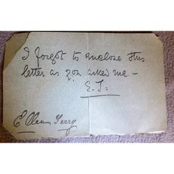 Dame Alice Ellen Terry Signed Note