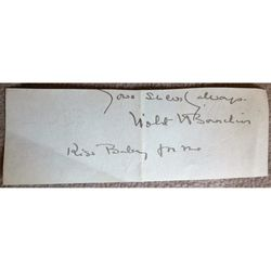 Violet Vanbrugh (Bourchier) Actress Signed Letter Clip (Kiss Baby for me)