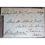 James Milnes Gaskell 1839 Signed Envelope Front (MP Wenlock)