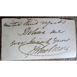Sims Reeves Tenor Signed Letter Clip